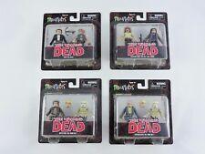 SET 4 MINIMATES The Walking Dead Series 7 Negan Dwight Zombie Rick Grimes 2-pack