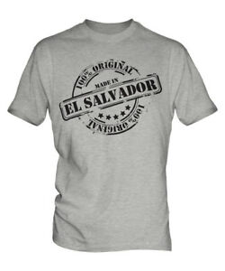 MADE IN EL SALVADOR MENS T-SHIRT GIFT CHRISTMAS BIRTHDAY 18TH 30TH 40TH 50TH