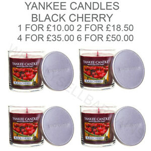 Yankee Candle Black Cherry Medium Pillar Scented Candle Red 198g Home Decor