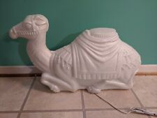 """New Christmas 28"""" Pearl Nativity Camel Lighted Blow Mold"""
