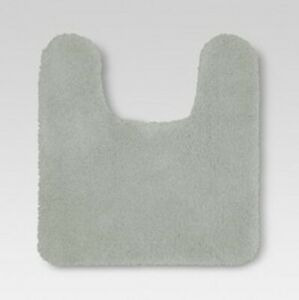 Threshold Solid Contour Bath Rug Gray 37.0 inches (L) x 23.0 inches (W) NEW