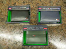 NEW W/DEFECTS- MEN'S TOMMY HILFIGER LEATHER WALLETS, ASST STYLE & COLORS  $26.00