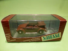 VITESSE VW VOLKSWAGEN KAFER BEETLE - CABRIOLET CONVERTIBLE - BROWN 1:43 - NMIB