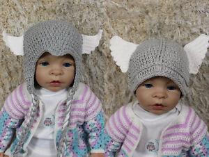 New Handmade Knit Crochet Hat Baby Child Kids Thor Hat Newborn Photo Prop Hat