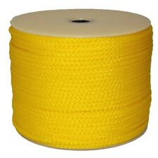 "T.W . Evans Cordage  1/4-"" By 500-Feet Hollow Braid Polypro Rope, Yellow New"
