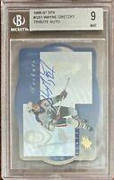 1996/97 SPx WAYNE GRETZKY TRIBUTE AUTOGRAPH Beckett MINT 9 Centering 9.5 Oilers