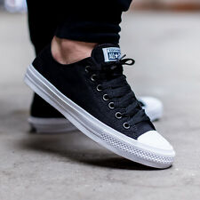 b9b32b5a9e91b8 Converse Chuck Taylor All Star II Lunarlon Low Men s Sz 8 Black Shoes  150149C