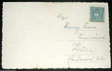 1930s Czechoslovakia Stamp 50h RPPC Real Photograph Postcard