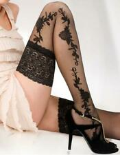 Floral Patterned Hold Up Stockings Sexy Lace High Quality Stay Ups 20 Den Denier