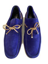 Genuine Versace mens Blue loafers Size 41