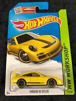 Hot Wheels 2014 HW Workshop Yellow Porsche 911 GT3 RS