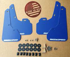 [SR] 10-13 Mazdaspeed 3 & Mazda 3 Mud Flaps Kit BLUE with Hardware & Vinyl Logo