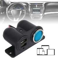 12V/24V Car Cigarette Lighter Socket Splitter Charger Power Adapter Dual USB