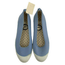 Vintage Keds Womens Flats Size 7 Baby Blue Slip On Toe Bumper New In Box 90s