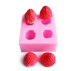 Strawberry Silicone Mould Fondant Icing Wedding Cake Mold Cake Decorating TyuZ2