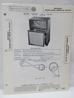 Vintage Sams Photofact Folder Radio Parts Manual Motorola Models 8FM21 8FM21B