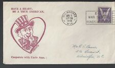 "WWII Patriotic Cover ""Have a heart, be a True American..."" a"