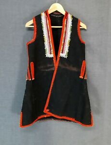 Antique Folk Textile Balkan Traditional  Macedonian Women's Vest From Bitola