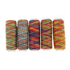 5x Rainbow Sewing Thread Hand Machine Thread for Upholstery Leather Bag