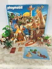 Playmobil # 3250 Camp Thunder Complete with Original Manual & Box, Indian Figues