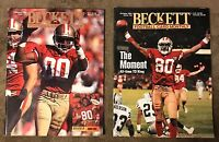 LOT OF 2 - JERRY RICE BECKETT FOOTBALL MONTHLY MAGAZINES - SAN FRANCISCO 49ERS