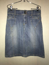 DIVIDED JEAN SKIRT, SIZE 38