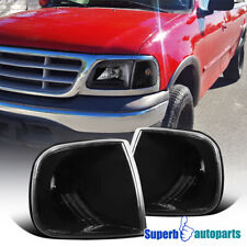 For 1997-2003 Ford F150 Expedition Corner Lamps Turn Signal Lights Black