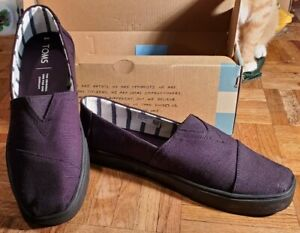 Black Toms Classic Heritage Canvas Alpargata  Cupsole upper Fabric shoe Men sz 8