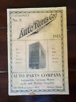 1915 Auto Parts Co. Inc. Catalogue No. 8 cyclecar, motorcycle, marine Chicago