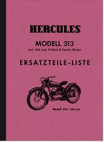 Hercules Modell 313 Ersatzteilliste Ersatzteilkatalog Teilekatalog Sachs 150 ccm