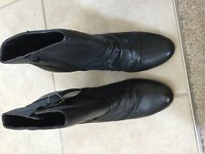 "A.N.A. NEW/Never Worn Black all Leather Ankle Boots, 3"" heel, size 7.5"