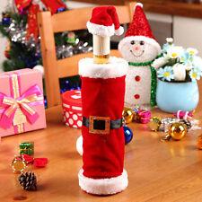 Decoración de Mesa Regalo Fiesta Navidad Cubierta de Botella Santa Claus