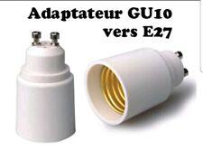 E27GU10 PROLONGATEUR ADAPTATEUR E27 VERS GU10 POUR AMPOULES
