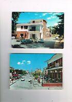 2 cartoline licola animate auto vespa giugliano complesso trinchillo marina '60