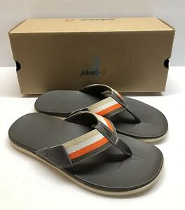 Men's  Sandals johnnie-O Boardwalk Sandal Size 8 New In Box Taupe Color Way