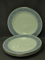 MALIBU AZURE, set 4 SOUP BOWLS, NEW MORE AVAILABLE WATERFORD MONIQUE LHUILLIER
