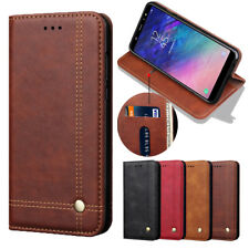 For Samsung Galaxy M10 M20 Luxury Vintage Leather Flip Holder Wallet Case Cover
