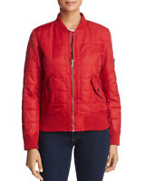 Anorak Womens Quilted Bomber Jacket Large Chile Pepper