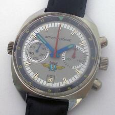 USSR Military Air Force Chronograph POLJOT Navigator Shturmanskie Steel Case