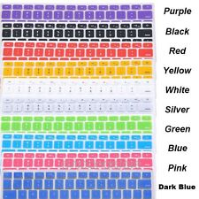 9 Colors Silicone Keyboard Cover Skin For Apple Macbook Pro MAC 13 15 17 Air 13