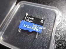 Tarjeta de memoria lexar 633X 32 GB 95MB/S clase 10 microSDHC UHS-I + Estuche