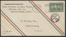 1928 AAMC #2807 Moncton to Charlottetown Feb 19th Flight, 1st CPO Air Mail Envel