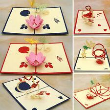 Wedding Greeting Card 3D Handmade Pop Up Love Valentine's Day New