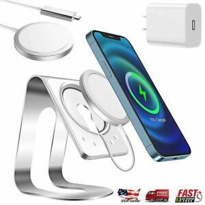 For iPhone 12 Pro Max Magnetic Magsafe Wireless Charger Charging Stand w/Adapter
