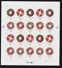 US,  #3249-52 32¢ Christmas Wreaths  SUPERB  Mint Never Hinged - sealed