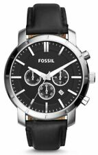 Fossil Lance Chronograph Date 46mm Black Dial Leather Men's Watch BQ1279IE SD
