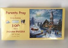 Parents Pray 300 piece Jigsaw Puzzle SunsOut Art by Nicky Boehme New Sealed USA