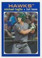 2020 Topps Heritage Minor League MICHAEL TOGLIA Blue Border /99 Hawks #160
