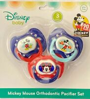 Disney Mickey Mouse 3-Pack Orthodontic Pacifier Set