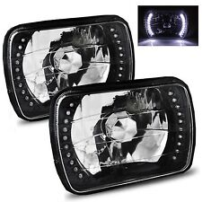 1979-1995 GMC G1500 G2500 G3500 7x6 H6052/H6054 Semi-Sealed Beam Black Diamon...